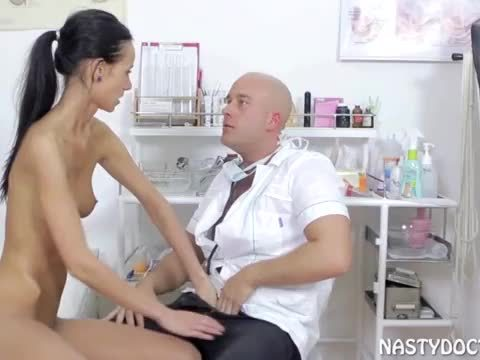 Petite Czech fucked by horny gynecologist